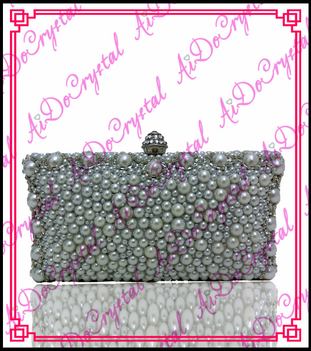 Aidocrystal grey crystal stones paved clutch bag and high heel pumps set for wedding party