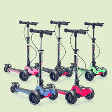 children foot scooters flashing alloy kids t shaped scooter for kids kick scooter with aluminum pu wheel Children's Scooter Tricycles Child Kids Folding Foot Scooter Adjustable Height PU Wheel Flashing LED Kick Skateboard
