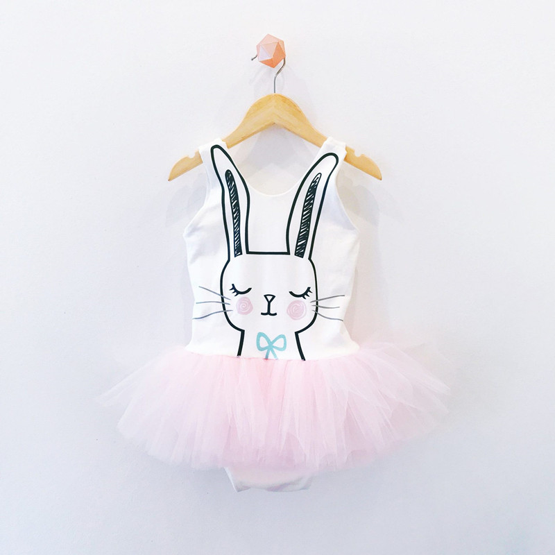 Easter Day Baby Romper Girls Cute Rabbit Cotton Jumpsuit Children Cartoon Bunny Tulle Romper Baby Clothes D0490 baby girl romper solid pink blue cute cartoon rabbit design christmas romper toddler baby girls jumpsuit boutique baby clothes