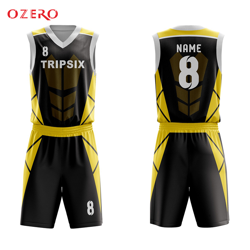 Custom Basketball Jersey Black And Yellow Basketball Jersey Yellow