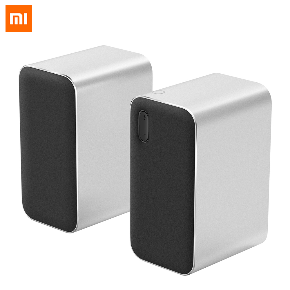 где купить Original Xiaomi Bluetooth Computer Speaker 12W 2.4GHz Double Bass Basin Stereo Portable Aux DSP With Microphone LED Indicator дешево
