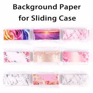 Image 3 - 200 stücke Hintergrund Papier Design und Druck für Private Logo Professional Kunden Service für Wimpern Fall