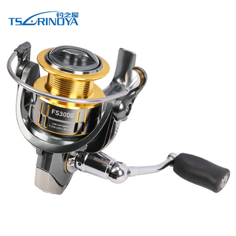 TSURINOYA FS3000 Fishing Spinning Reel 9+1BB 5.2:1 Metal Spools Fishing Lure Reels Max Drag 7kg Carretilha De Pesca Direita tsurinoya fs3000 spinning reel 9 1bb 5 2 1 bevel metal spool lure reel max drag 7kg molinete para pesca for saltwater fishing