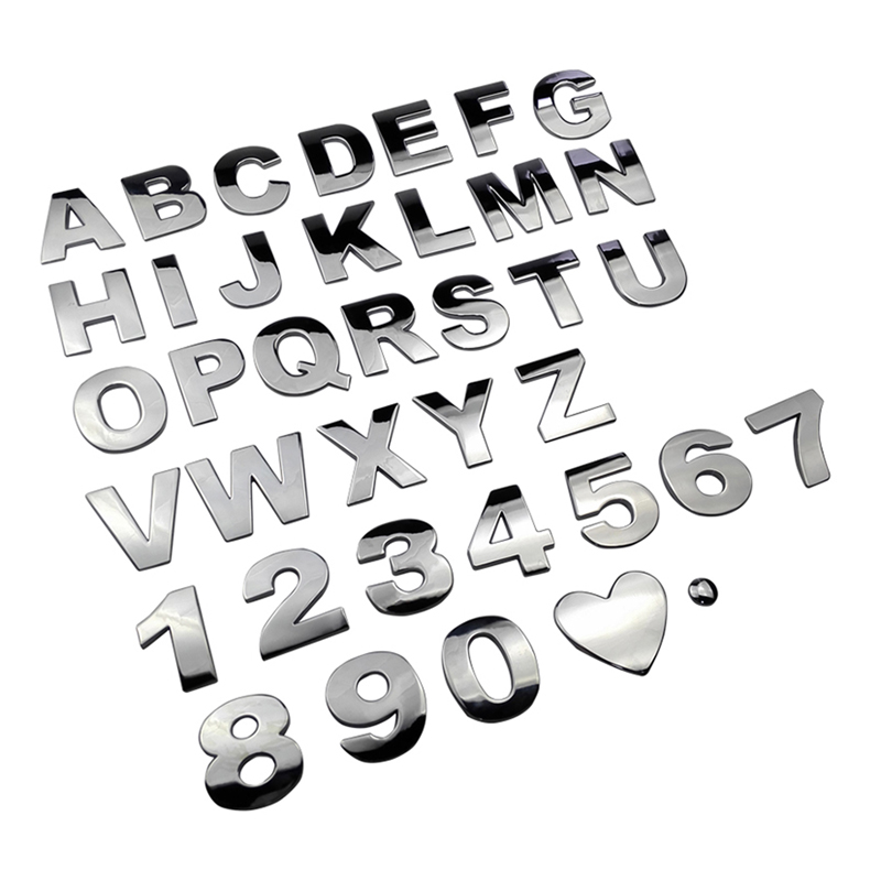 3d Letter Number Emblem For Audi Abarth Buick Lancia