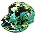 Homens Osso Hip Hop Jamaica Weed Snapbacks Azul Pai Verde Sólida Boné de beisebol do Chapéu de Verão para As Mulheres Floral Equipado Chapéu Cayler