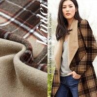 Sided Camel Wool Woolen Fabric Plaid Winter Woolen Woolen Coat Coat Custom Cloth Wholesale High Quality