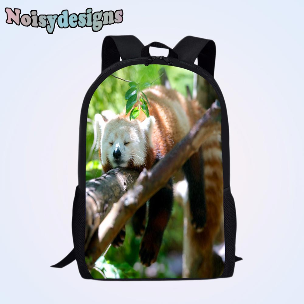 NOISYDESIGNS Kawaii Children School Bags Backpack for Boys Girls Students Book Bag Ailurus fulgens Animal Printed Teenager Bag