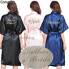 TJ02 Women Bathrobe Letter Bride Bridesmaid Mother Of The Bride Maid Of Honor Get Ready Robes