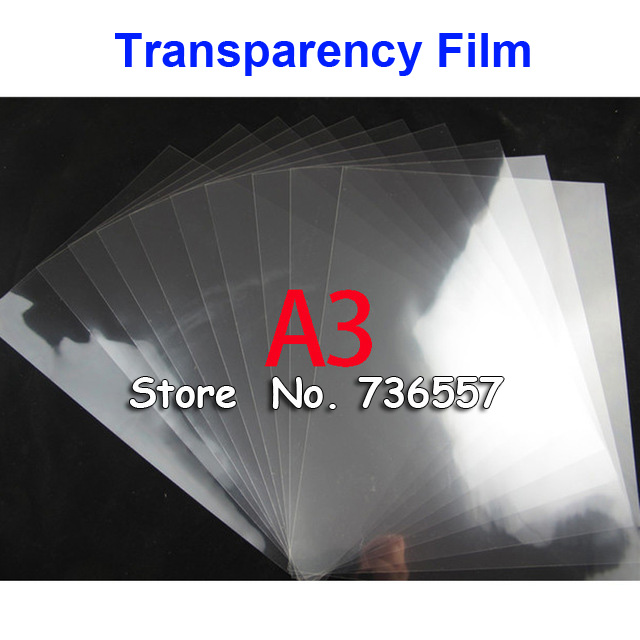 50 Pieces A3 PET Laser Printing Transparency Film Waterproof Transparency Film Screen Printing Transfer Film