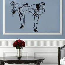 Sports Taekwondo Wall Decal Removable Living Room Sofa Background Vinyl Art Sticker Kids Boys Decor M-129