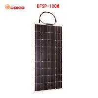 Dokio 12 В 100 Вт монокристаллический Гибкая Панели солнечные для Car/лодка высокое качество Гибкие Панель солнечной 100 Вт Китай