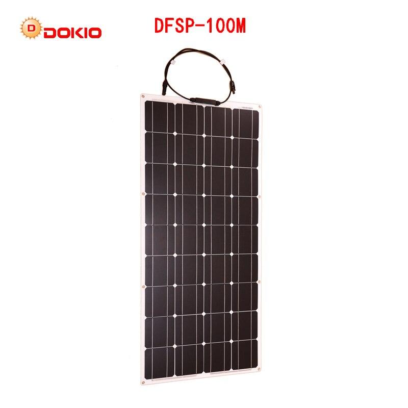Dokio 12V 100W Monocrystalline Flexible Solar Panel For Car/Boat High Quality Flexible Panel Solar 100w China