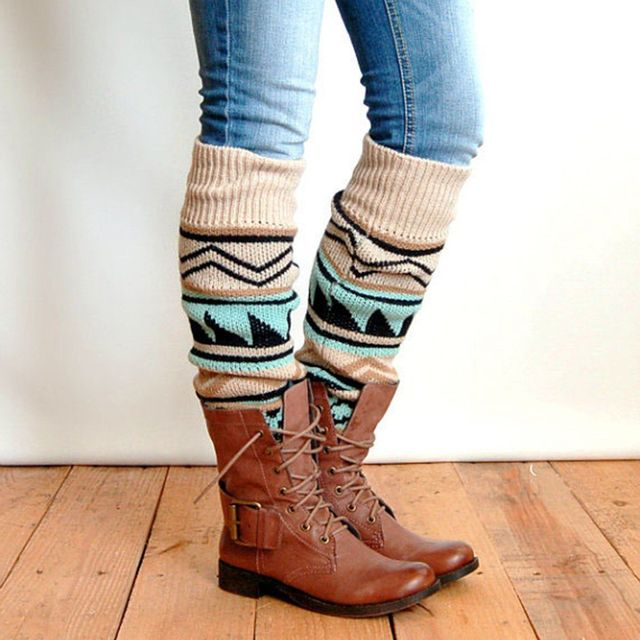 Bohemian Knitted Boot Cuffs Leg Warmers Mawgie