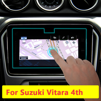 9inch Car Navigation Tempered Glass Screen Protector Steel Portective Film For Suzuki Vitara 4th 2015 2016 2017 2018 Accessories image