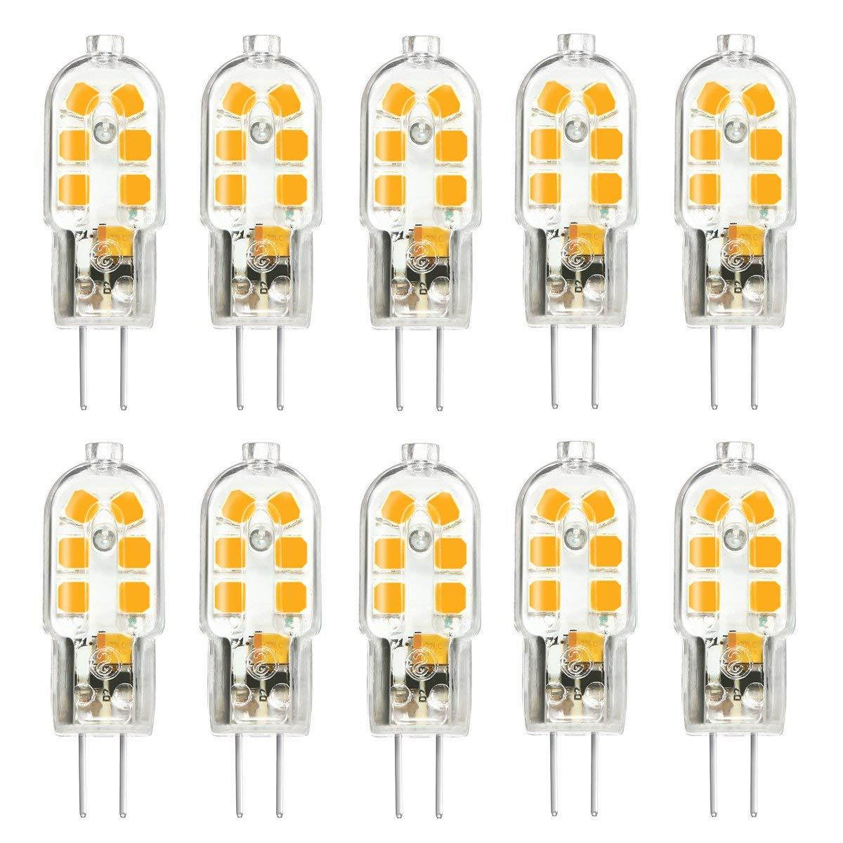 Us 14 95 12 Off G4 Led Bulb Bi Pin Base Corn Bulb 20w Halogen Bulb Equivalent Ac Dc 12volt Ac 220v Warm White 3000k Energy Class A 10pack In