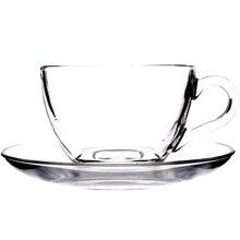 Бессвинцовый термос для кофе комплект из чашки и блюдца капучино посуда для напитков термостойкая прозрачная чайная чашка набор посуды