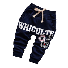 Baby pants 2016 winter plus cotton velvet thick warm letters baby harem pants 0-2 years old baby boys / baby girls pants