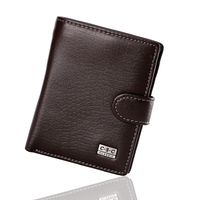 Classoical Leather Wallet Crad Holer Men Purse Genuine Cow Leather Men Wallet Trifold Wallets Zip Coin