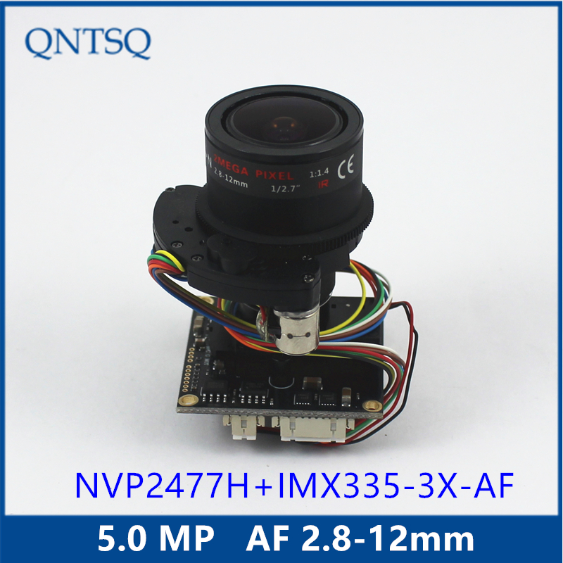 5MP AHD / TVI / CVI / CVBS Motorized 2.8 12mm Zoom & Auto Focal LENs 1/2.9 Sony Exmor IMX335 NVP2477 CCTV camera module board