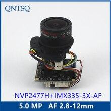 5MP AHD/TVI/CVI/CVBS моторизованный 2,8-12 мм Zoom & Auto Focal LENs 1/2. 9 «sony Exmor IMX335 NVP2477 модуль камеры видеонаблюдения доска