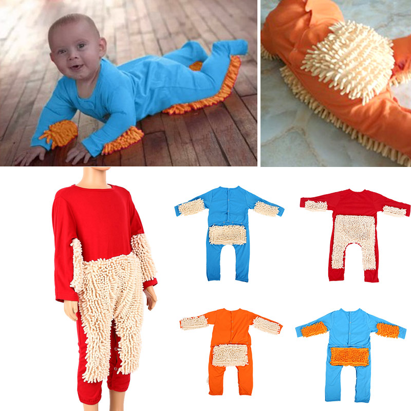 Newborn Kids Autumn Winter Baby Mop Romper Newborn Boys Girls Long Sleeve Cotton Swob Jumpsuit Warm Kids Toddler Clothes цена