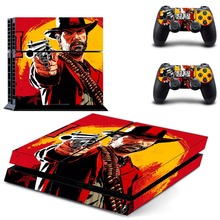 Vinyl Sticker PS4 Skin Decal Sticker For PlayStation4 Console and 2 controller skins – Red Dead:Redemption II