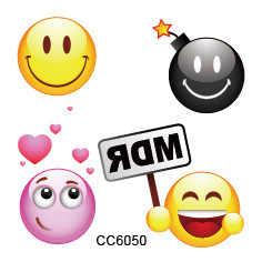 1 Set Lachte Emoji Stickers Regenboog Eenhoorn Cartoon Sticker tol Gift Speelgoed Jongen Meisje Kinderen Watermerk Tattoo
