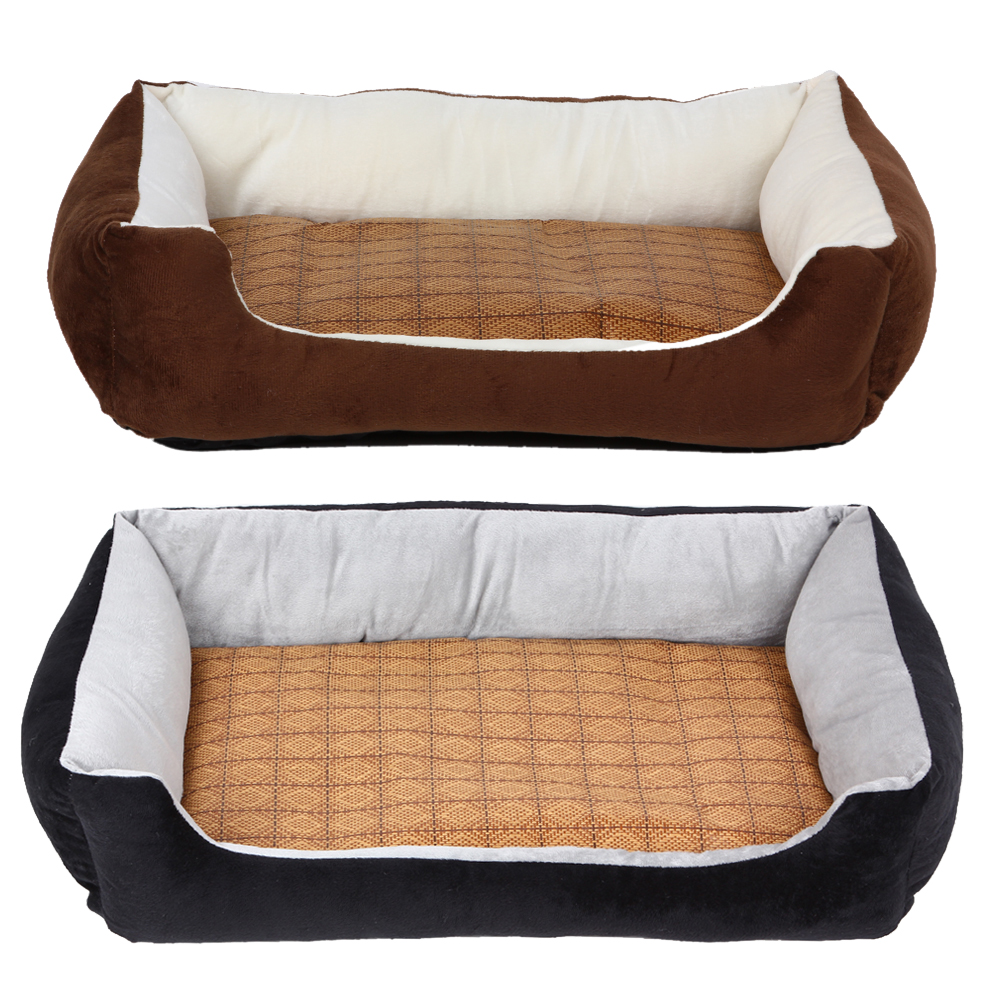 soft fleece pet bed dog kennel with cooling pad small dog cat puppy sleepping mat pad