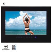 Souria 32 inches IP66 Waterproof Bathroom Full HD LED TV Luxury Hotel Black Shower Room Water Resistant