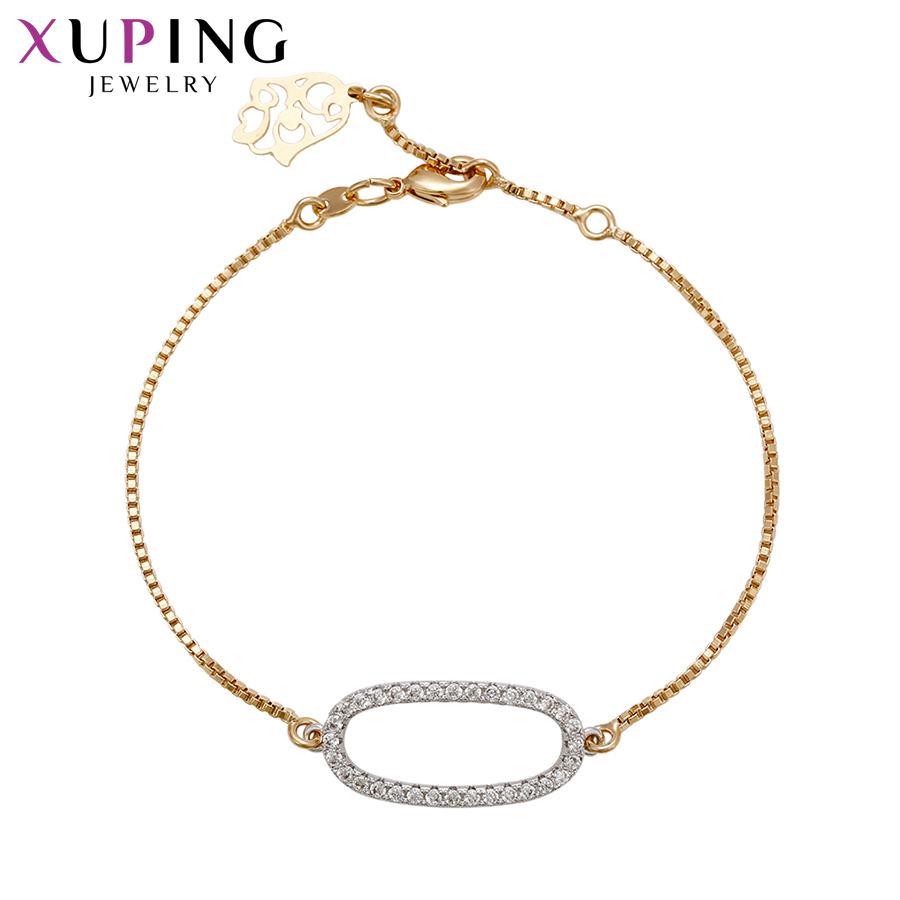 Xuping Fashion Luxury Bracelets With Synthetic CZ Popular Design Bracelets for Women Girls Jewelry Christmas Gifts S71,3-72066
