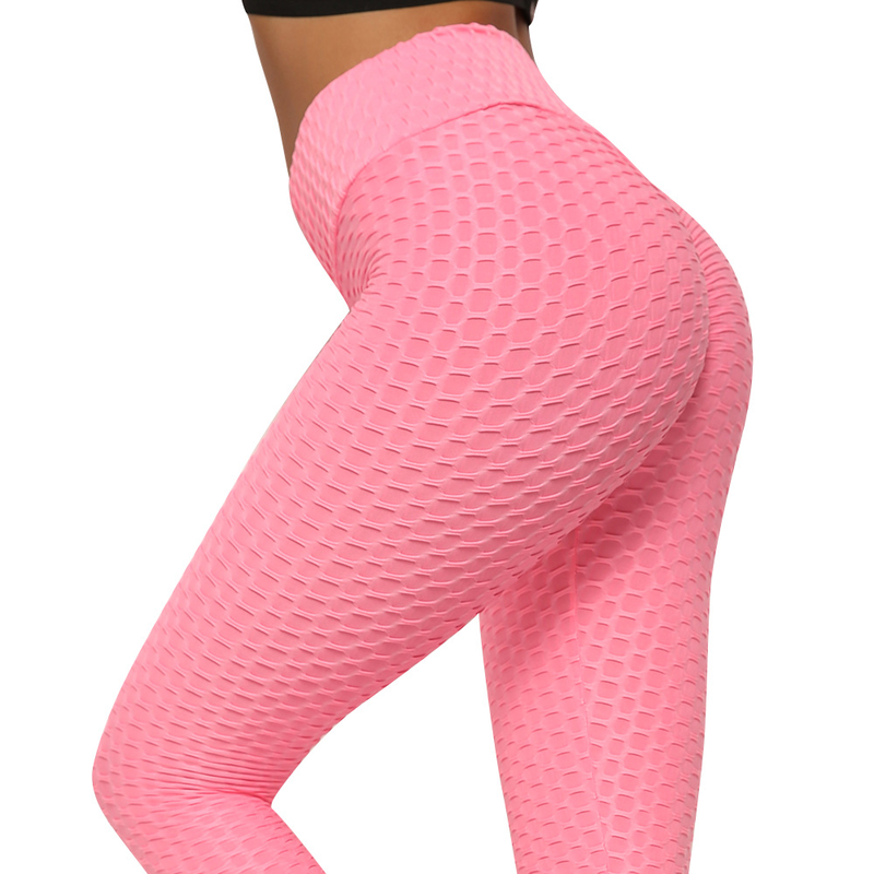 Anti Cellulite Texture Leggings Women Solid High Waist Workout Wrinkle Pants Sport Fitness Multiple Color Legging Dames Trousers