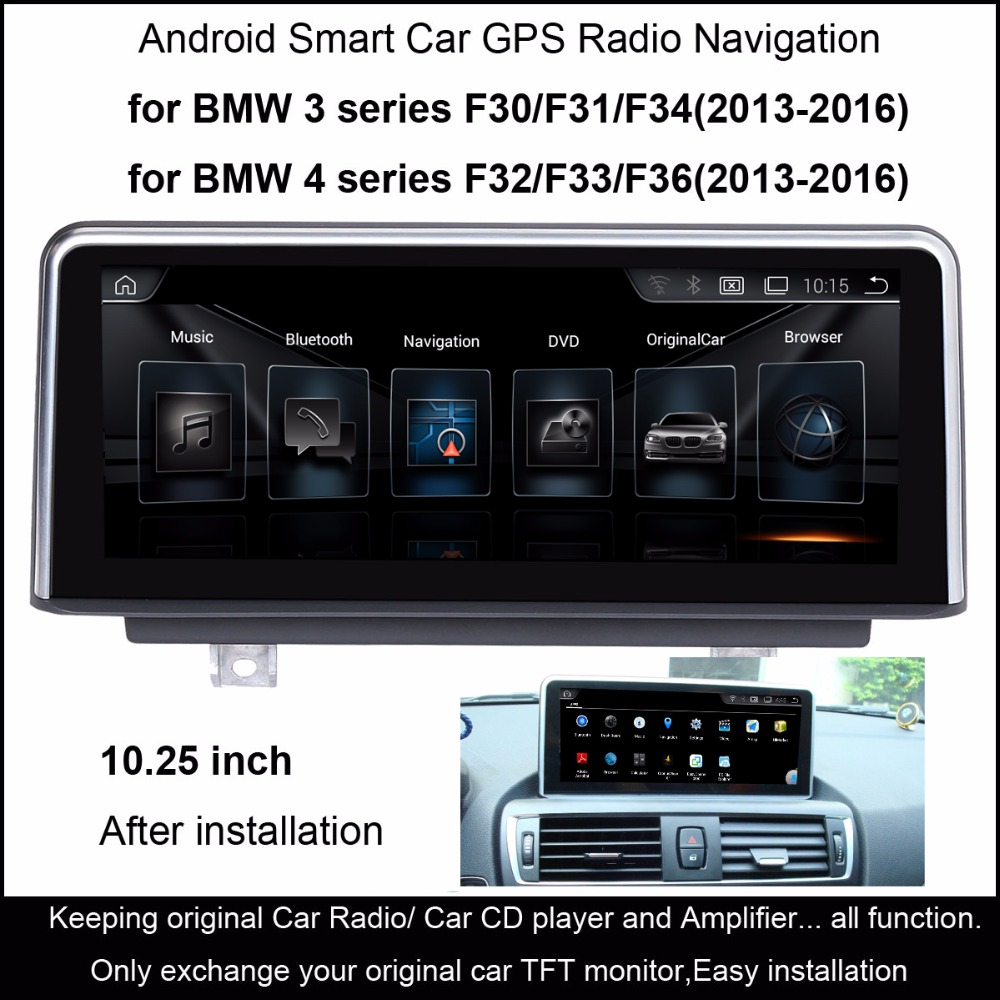 hight resolution of 10 25 inch car multimedia player for bmw 3 series f30 f31 f34 2013