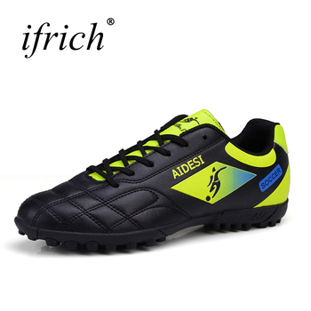 soccer shoes for men turf football boots child breathable cheap soccer cleats male football sneaker light mens soccer shoes 2019 Football Shoes Soccer Boots For Men Children Soccer Cleats Turf Shoes Leather Soccer Trainer Boys Soccer Sneaker Turf Boot