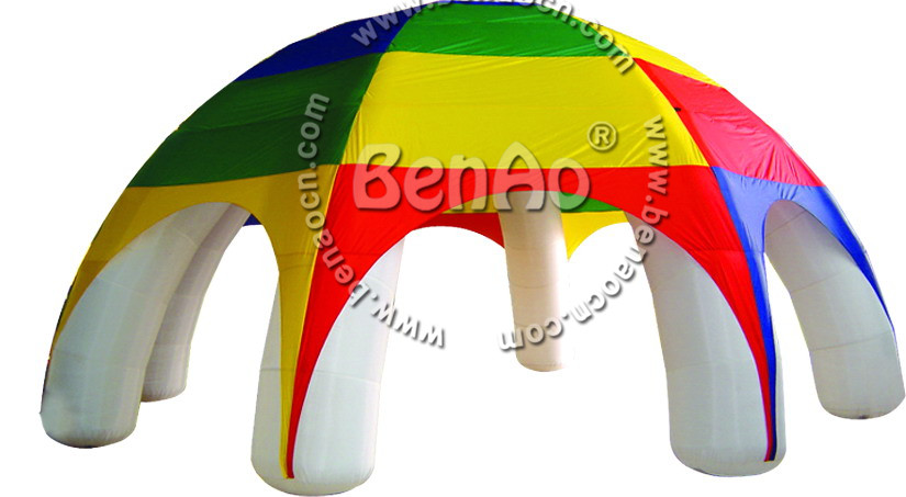 T051 8m*8m  Inflatable rainbow Tent Best Inflatable Dome Tent Outdoor Events Advertising Exhibition Inflatable Tents with blower 6x3mh inflatable spider tent advertising inflatable tent inflatable party tent outdoor events tent