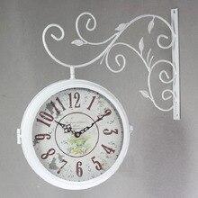 double sided wall clock watch vintage clocks saat relogio parede wrought iron wall clock metal horloge murale duvar saati klok