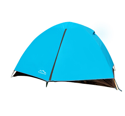 Waterproof Double Layer 2 Persons Tent  Aluminum Rod Outdoor Beach Camping Ice Fishing Ultralight Canvas Barraca T05 brand 1 2 person outdoor camping tent ultralight hiking fishing travel double layer couples tent aluminum rod lovers tent