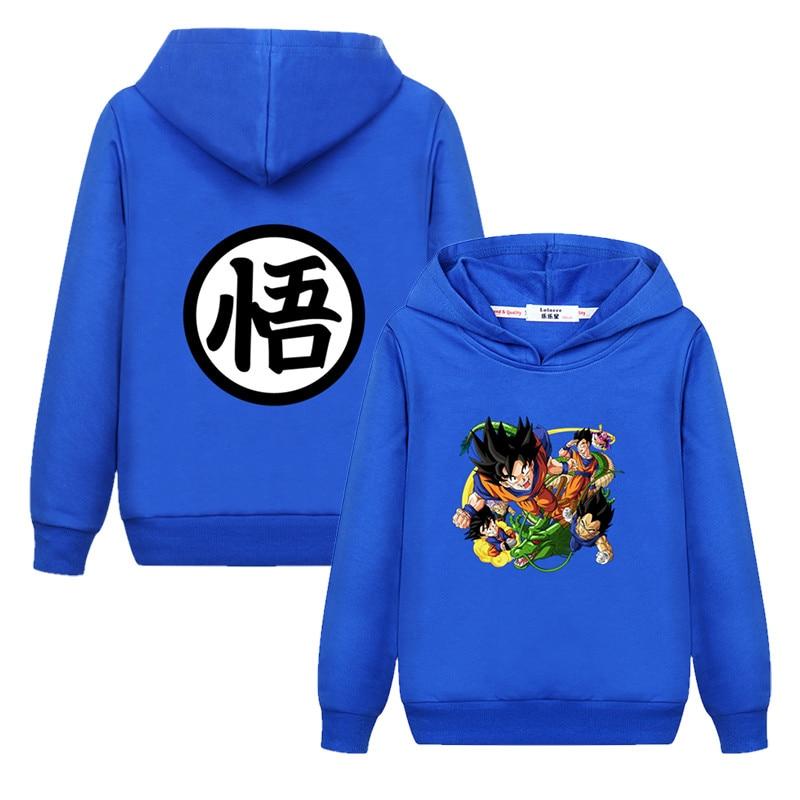 Kids Autumn Boys Anime Dragon Ball Z Goku Girls Children Coat Sweatshirt Hoodie