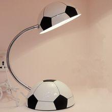 Boy girl football lamp cartoon modern minimalist creative children learning lamp eye protection table lamp bedroom bedside стоимость