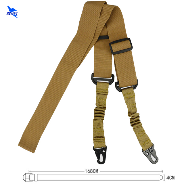 Tactical 2 Point Gun Shoulder Straps Outdoor Rifle Sling With Metal Buckle Military Gun Belt Hunting Accessories Safety Rope