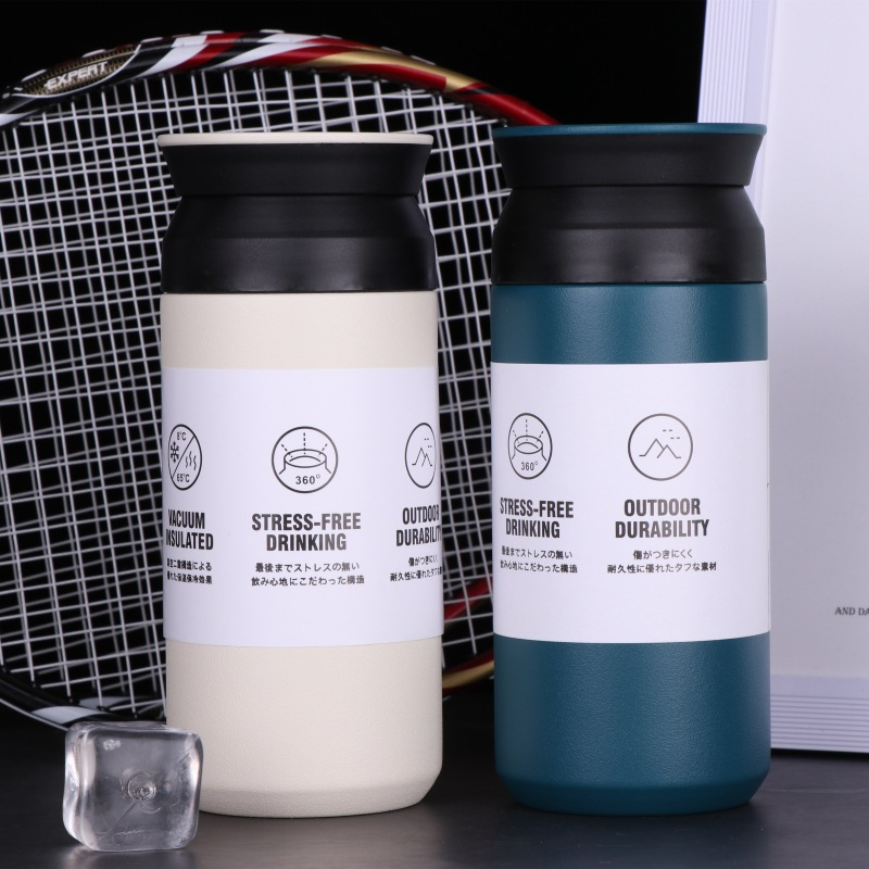 350Ml Thermos Bottle Coffee Mug Thermos Vacuum Mug Stainless Steel Coffee Cup Portable Selfdriving Water Thermos Vacuum Flask in Vacuum Flasks Thermoses from Home Garden