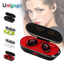 Mini Invisible Earphones bluetooth Headphones twin Wireless Earbuds Stereo Headsets noise cancelling with charging box for phone