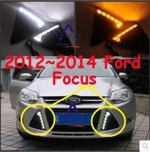 Автомобильный бампер фары для фокусировки дневного света 2009 ~ 2011/2012 ~ 2014 автомобильные аксессуары светодиодный DRL для фокусировки противоту...