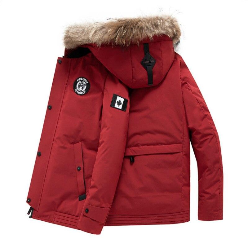 2019 Neue Mode Männer Der Mantel Waschbären Pelz Kragen Warme Winter Grundlegende Solide Zipper Patchwaork Unten Jacke Mit Kapuze Kostenloser Versand 18018 Und Verdauung Hilft