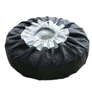 Image 4 - 1 Stuks Tire Cover Case Auto Reservewiel Cover Opbergzakken Carry Tote Polyester Band Voor Auto Wiel Bescherming Covers 4 Seizoen