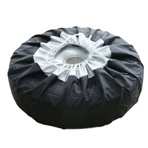 Image 4 - 1PCS Tire Cover Case Car Spare Tire Cover Storage Bags Carry Tote Polyester Tire For Cars Wheel Protection Covers 4 Season