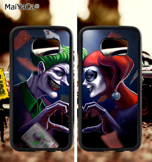BFF joker and harley love couple soft TPU edge phone cases for samsung s6 plus s7 s8 s9 S10 lite e note8 note9