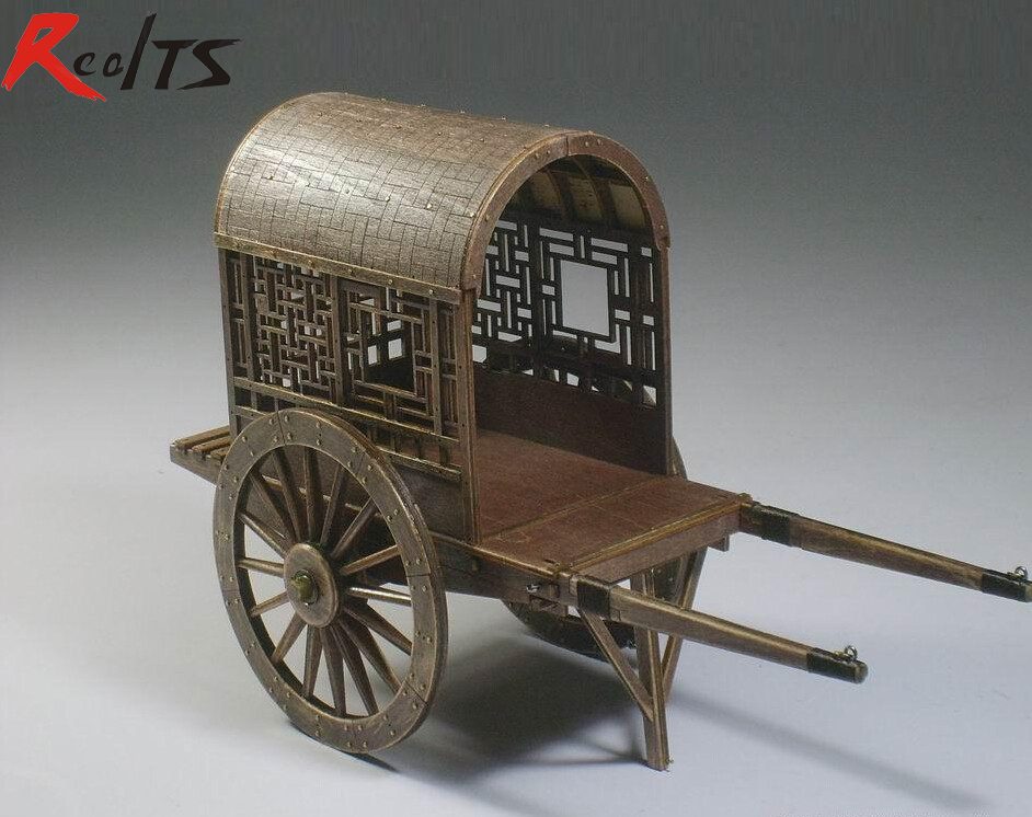 Chinese Ancient Horse Drawn Vehicle Series Ming And Qing Dynasties Gharry Model Sidecar Assembly Kit