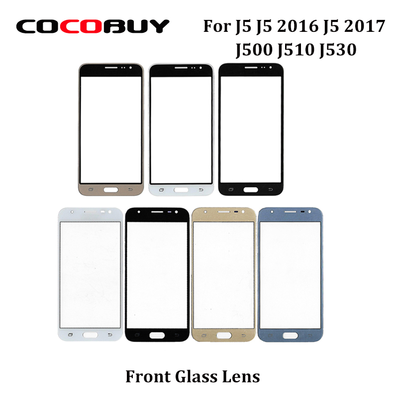 "Фото Free Shipping 1PC Outer Front LCD Touch Screen Glass Lens Panel For Samsung J3 2017 J330 J3 2016 J320 5.0"" for Phone Replacement"