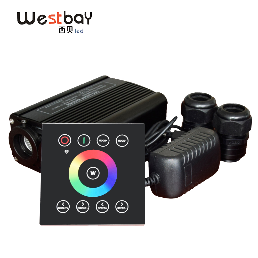 Westbay Fibre Optiq Light Engine Driver 32W RGBW Double Port Fibre Optiq Light Source With Touch