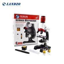 Наука микроскоп комплект для детей 100x 400x 1200X изысканный научных Инструменты Набор игрушек для раннего образования для подарок на день рождения